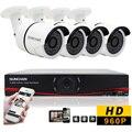 Sunchan 8CH 720 P AHD DVR Kit 4 * 1.3 MP 960 P Outdoor CCTV Sistema de câmera de segurança 1080 P saída Sistema de câmera Seguranca sistema de segurança cftv kit cameras de segurança kit