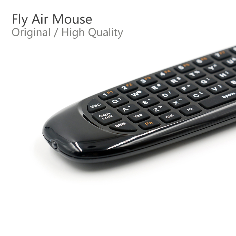 New Update Gyroscope Fly Air Mouse C120 Plus Wireless Game Keyboard Android Remote Controller Rechargeable 2.4Ghz For Smart TV
