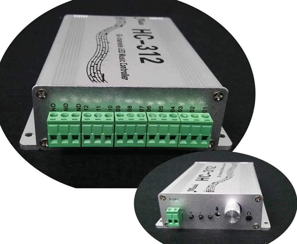 LED Music Controller HC312 input voltage 5V-24V Apply to WS2811 WS2812B WS2813 1903 1804 KTV Car decoration Party Hi detonation