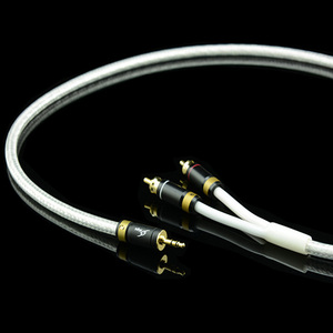 Image 5 - MPS M 4 High End 3.5mm to 2 RCA Audio cable 6N OFC HiFi 99.9997% 24K Gold Plated Plug Speaker cable Free Shipping