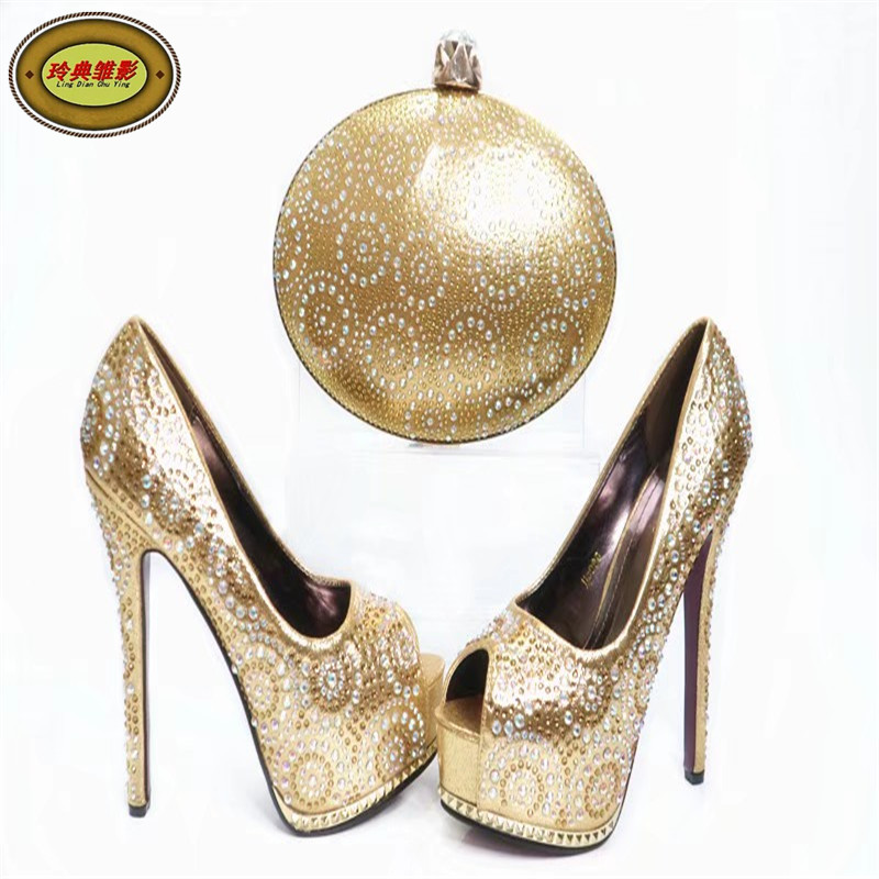 G35 High Quality African Wedding Bride Shoes And Bag Set Hot Sale Rhinestone Italian Matching Shoe And Bag Set On Promotion italian shoe with matching bag set for wedding african matching shoe and bag set with stones high quality women pumps red gf24