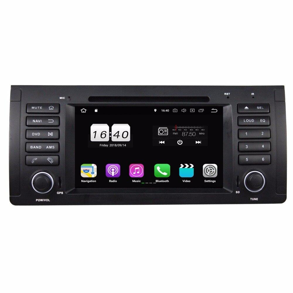2 Гб Оперативная память 4 ядра 7 Android 8,1 автомобильный аудио dvd плеер для BMW M5 E39 X5 E53 с cradio gps WI FI Bluetooth 16 Гб Встроенная память USB с диагностическим