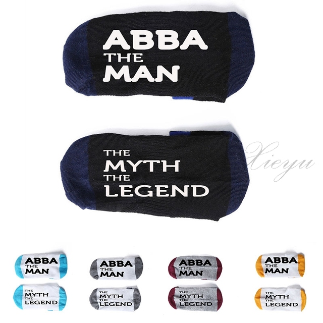 Abba The Man The Myth The Legend Sock Cotton Unisex Sock Slippers