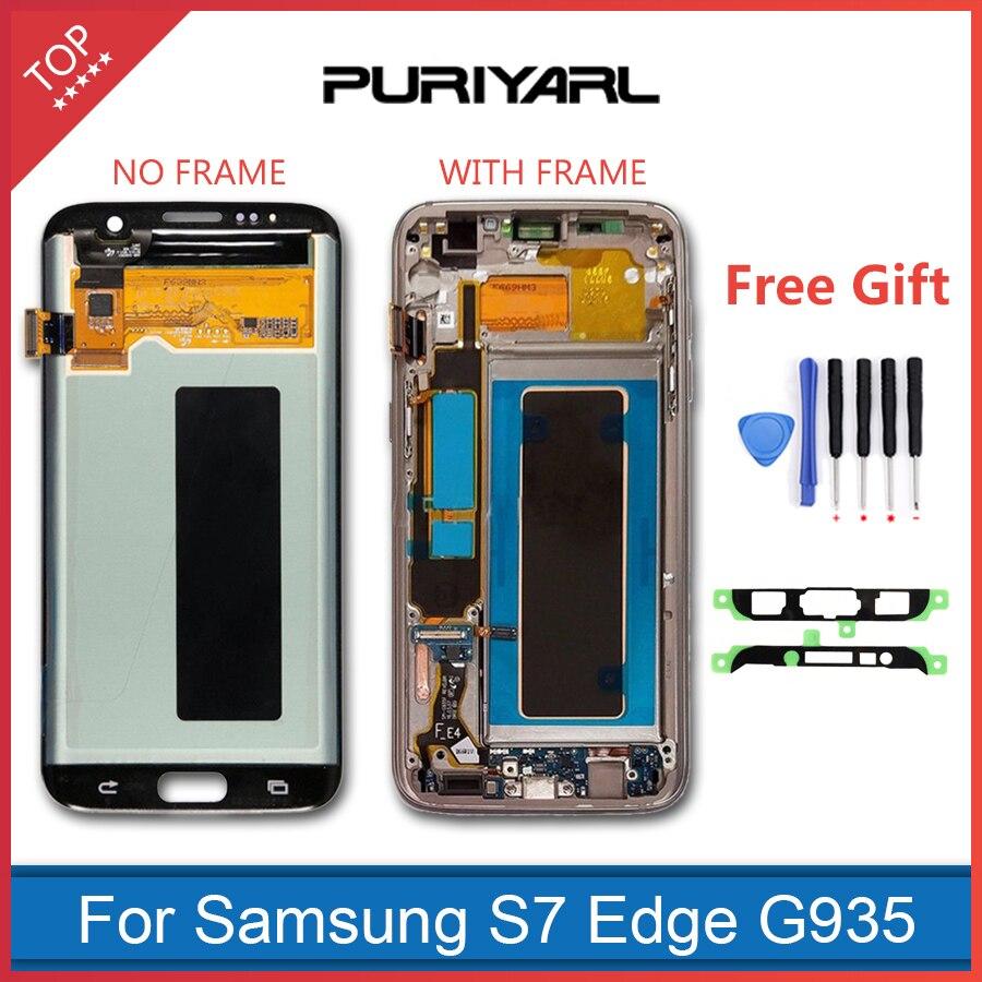 AAA Qualität Original Super AMOLED Pantalla Bildschirm Für Samsung Galaxy S7 Rand LCD Display G935F G935FD Montage Ersatz
