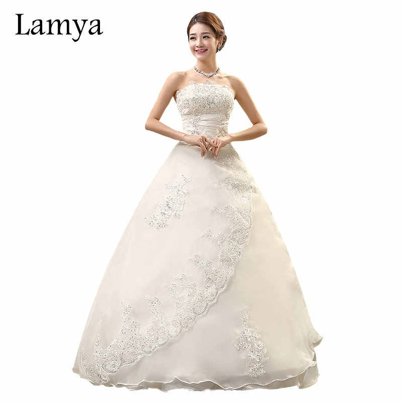 LAMYA Real Photo Customized Princess Lace Wedding Dress 2018 Vintage Plus  Size Wedding Dresses Bridal Gowns 6fa75918f90f