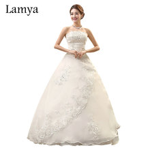 Lamya Real Photo Customized Princess Lace Wedding Dress 2017 Vintage Plus Size Wedding Dresses Bridal Gowns vestido de noiva