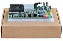 Горячие продажи Мини-Плата PC Celeron 3215U Настольных Низкая Мощность Мини материнская плата 6 * COM Dual Lan Три Дисплей GPIO