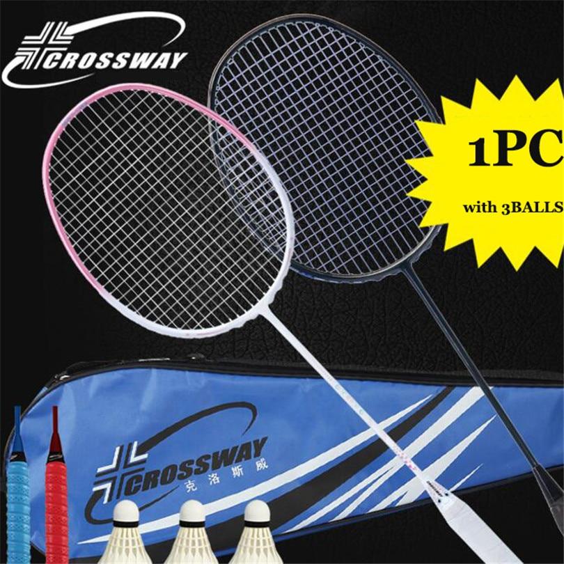 CROSSWAY 1pc 4U 5U badminton racket adult ultralight offensive Sports fitness training match amateur intermediate Full carbon201