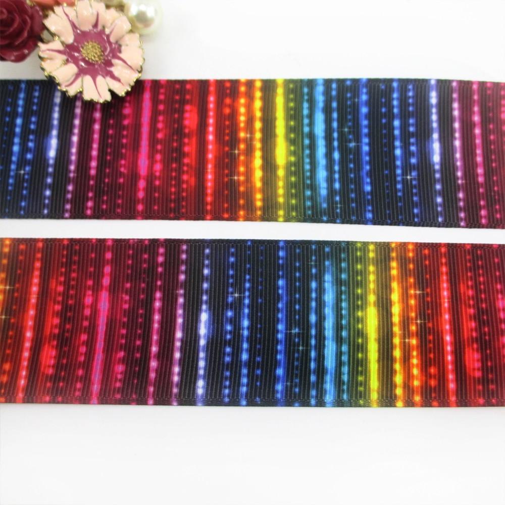 1.5 «38 мм Цветы серии высокого качества Печатных Полиэфирная лента 10 метров, DIY материалы ручной работы, свадебная подарочная упаковка, 10y49662