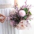 Модный Букет пионов  искусственный цветок гортензии  Шелковый цветок  стеклянная ваза для дома  свадебные окна  романтическое украшение