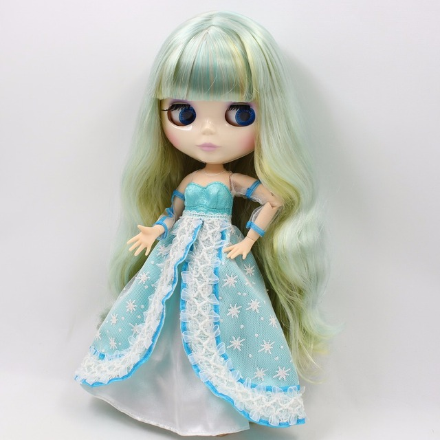 TBL Neo Blythe Doll Green Mint Hair Jointed Body