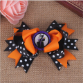 Halloween baby princess bottle cap hair bows with clips pins for girls barrette bow clip hairpins hair accessories hairbows new