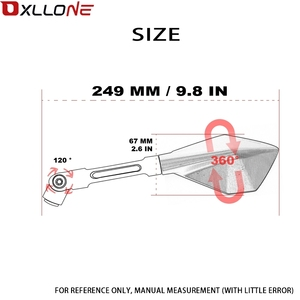 Image 5 - العالمي للدراجات النارية مرآة الرؤية الجانبية الخلفية مرآة 22 \ 24 مللي متر مقبض بار لكاواساكي Z800 Z750 Z750R Z 800 750 750R ER 6N Versys650