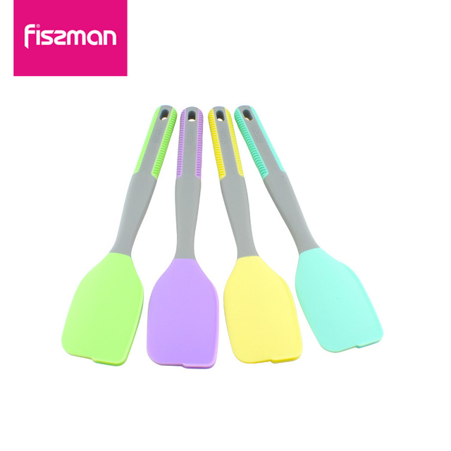 Fissman Kitchen Silicone Cream Butter Cake Spatula Mixing Batter Scraper Brush Butter Mixer Cake Brushes Baking Tool Kitchenware
