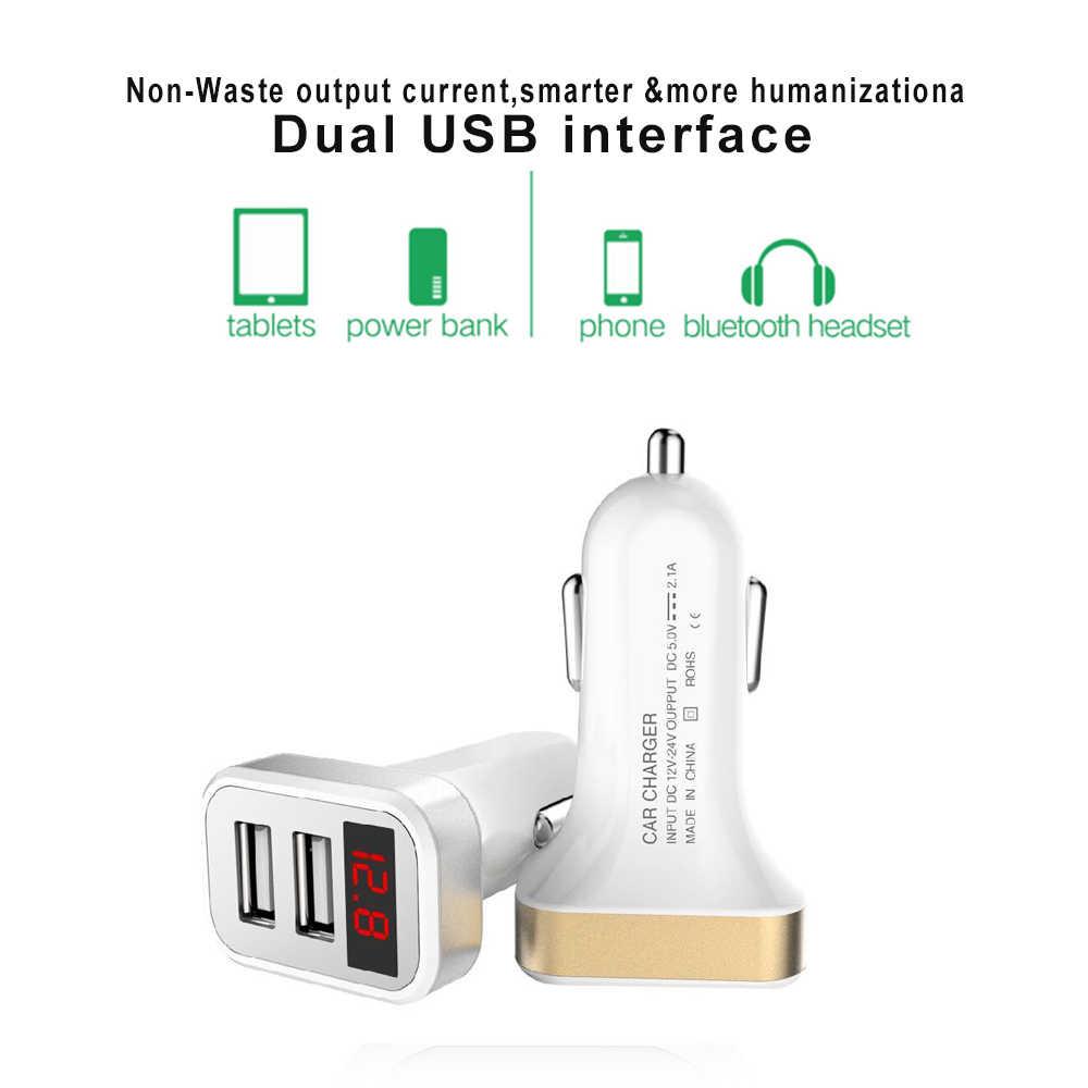 Uniwersalny 2USB ładowarka samochodowa szybkie ładowanie 2.4A Max ładowania samochodów dla Iphone Samsung Xiaomi telefon komórkowy do samochodu ładowarki darmowa wysyłka