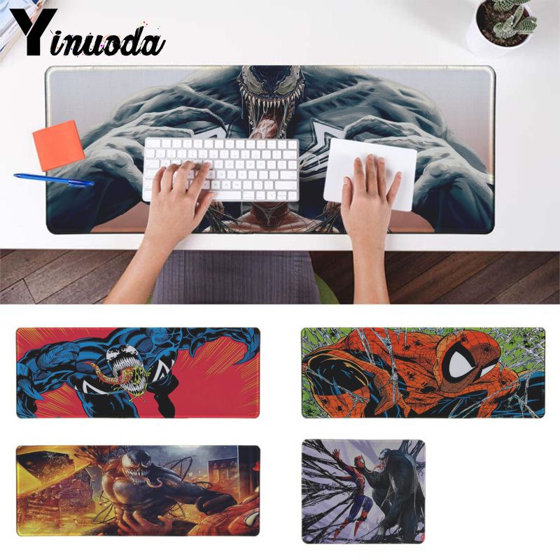 Mouse & Keyboards Computer Peripherals Conscientious Yinuoda Spiderman Venom Marvel Hd Durable Rubber Mouse Mat Pad Anime Cartoon Print Large Size Gaming Mouse Pad For Cs Lol Gamer