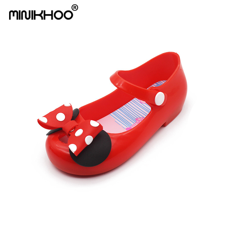 Mini Melissa 2018 New Children Flowers Brazilian Jelly Sandals Baby Jelly Sandals Buckle Cute Shoes Princess Sandals Beach Shoes