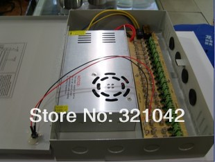 18CH 360W DC12V 30A Switching Power Supply Box / Monitor Power Supply For 18 Ports CCTV Cameras цена