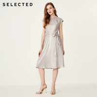 SELECTED Summer Smooth Dacron Frilled Dress S|41922J510