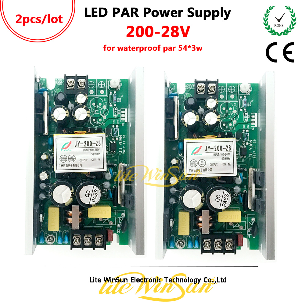 04dbe3b64c Litewinsune LED PAR Can Light Power Board Supplier 200W 28V for 54*3W RGBW  Waterproof Outdoor