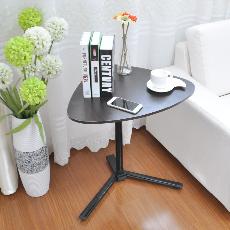 Simple Tea table assembled removable Can move MDF triangle table adjustable Lounger coffee table Living room furniture