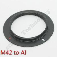 10x M42 Lens To AI F For Nikon Mount Adapter Ring D70s D90 D3100 D100 D7000