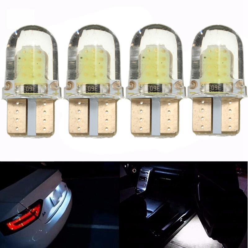 10pcs LED W5W T10 194 168 COB 8SMD Led Parking Bulb Car Led Silica Bright White License Plate Light Bulb DC 12V mon su 2pcs t10 19smd car 3030 led chip t10 168 194 2825 w5w led bulbs for parking position light or license plate lights 12v