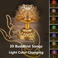 7 цветов цветок лотоса лампа буддийские молитвенные лампы 39 буддийские песни Будда музыкальная машина LED Изменение цвета Будды храма свет