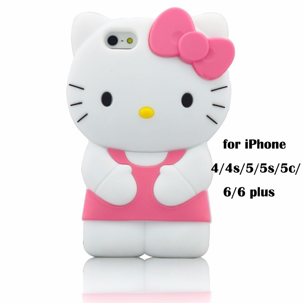 3D Cartoon Silicone Case iPhone 6/6S Hello Kitty Rubber Cover 6 6S Plus 5/5s 4/4s Cute Gel Cases Capa Funda Coque - LZ International Trading Co., Ltd store