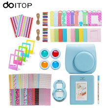 DOITOP for Fujifilm Instax Mini 8 9 in 1 Instant Film Camera Accessories Camera Bag Selfie Lens Album Bundles Decor Stiker Kit