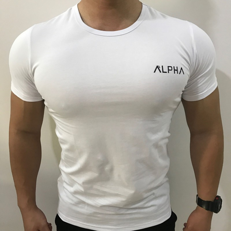 ALPHA 2019 New Brand clothing Gym Tight t-shirt mens fitness t-shirt homme Gym t shirt men fitness Summer topsALPHA 2019 New Brand clothing Gym Tight t-shirt mens fitness t-shirt homme Gym t shirt men fitness Summer tops