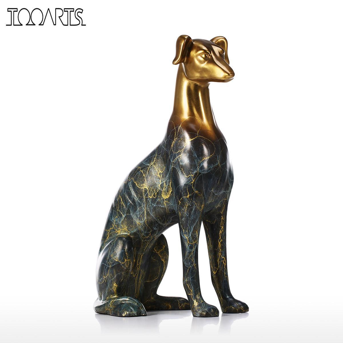 Tooarts Labrador Chien Bronze Sculpture Home Decor Sculpture De Bureau Décoratif Figurine Main Animaux Statues et Sculptures