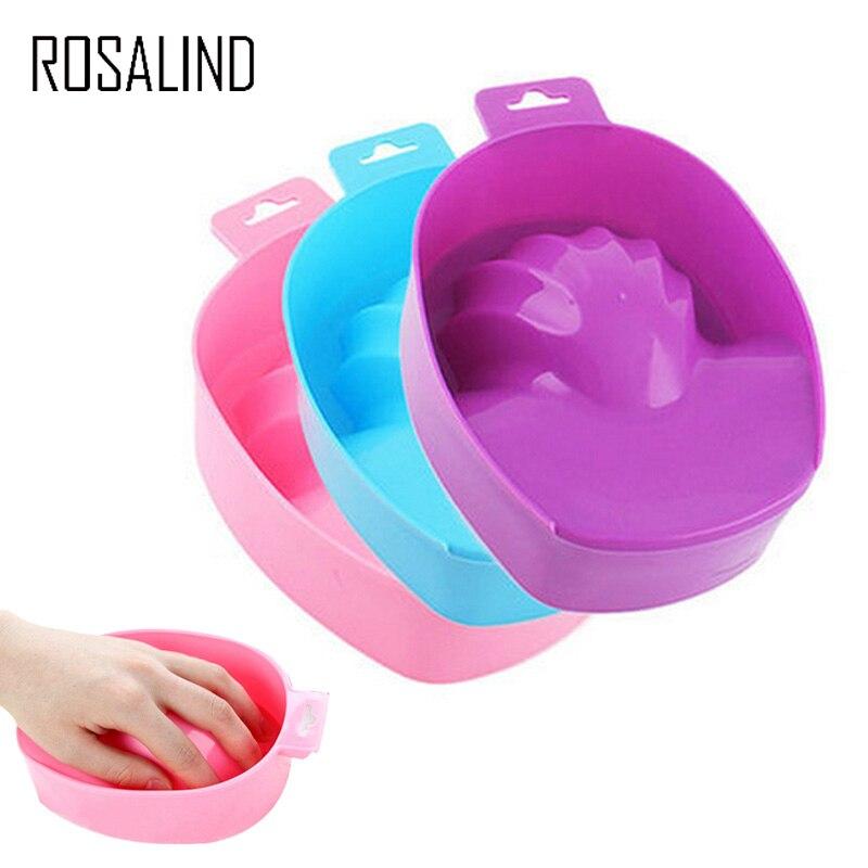 ROSALIND 1PCS Nail Art Hand Wash Remover Soak Bowl DIY Salon Nail Spa