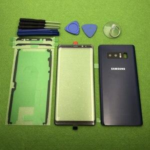 Image 2 - 삼성 Galaxy Note 8 N950 N950F 기존 전면 스크린 유리 렌즈 Note8 후면 배터리 커버 도어 후면 하우징 + 스티커 도구