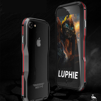 Luphie High-end 3D Stereoscopic Mobile Phone Bicolor Bumper Case For iPhone 7 plus Original Metal bumper for Apple iPhone 4.7