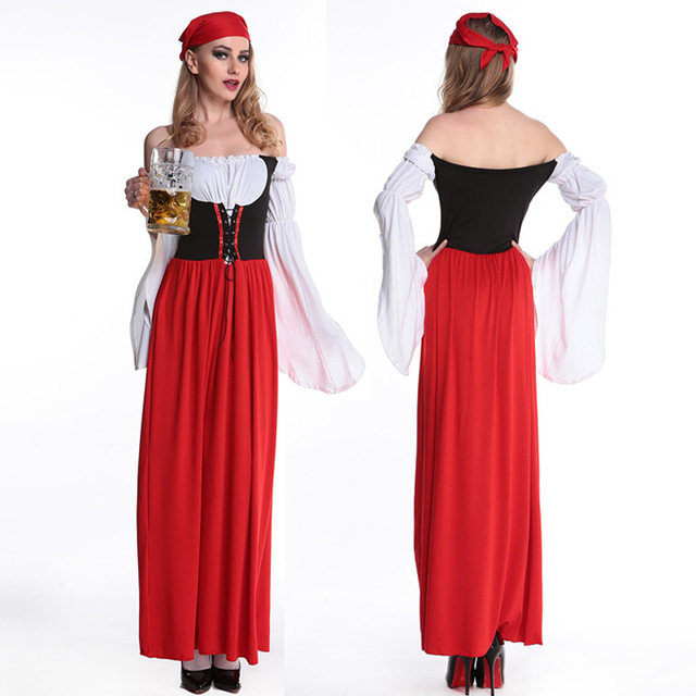 2017 new oktoberfest clothing dress skirt maid ladies pirate suit halloween costumes