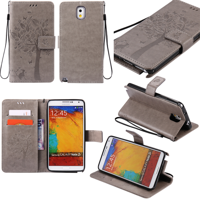 for Flip Phone Samsung Note3 Case Cover Case for Samsung Galaxy Note 3 N900 N9005 SM-N900 SM-9005 Card Holder Holster Mobile Bag