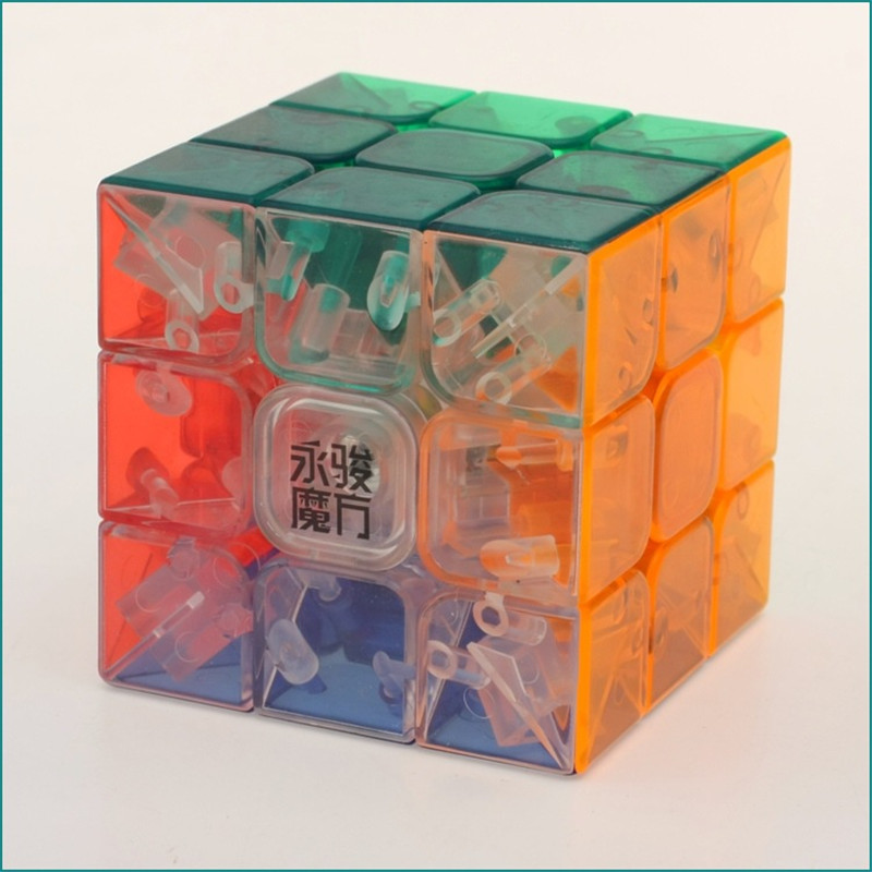 Transparency 3 Layers Cube Puzzle Toy Magic Cube 3x3x3 Profissional Match Cube Toys For Children Kids Educational Gift Toy enlightenment educational cube children toy