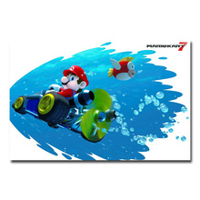 Super Mario Kart Art Silk Fabric Poster Print 13x20 24x36 Inch Vedio Game Pictures For Living