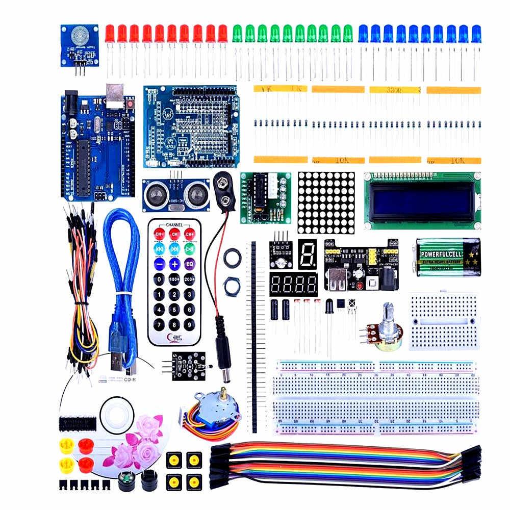Для UNO R3 стартовый супер-набор для проекта с обучающим руководством для Arduino, полная Робототехника Сенсор, набор, опт, с коробкой