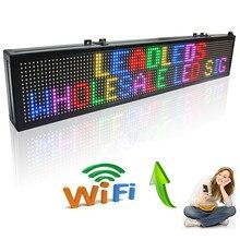 40 אינץ WIFI 7 צבע בצבע מלא RGB SMD הוביל סימנים מרחוק לוח הודעות חנות, סימן פתוח לתכנות גלילה מסך תצוגה