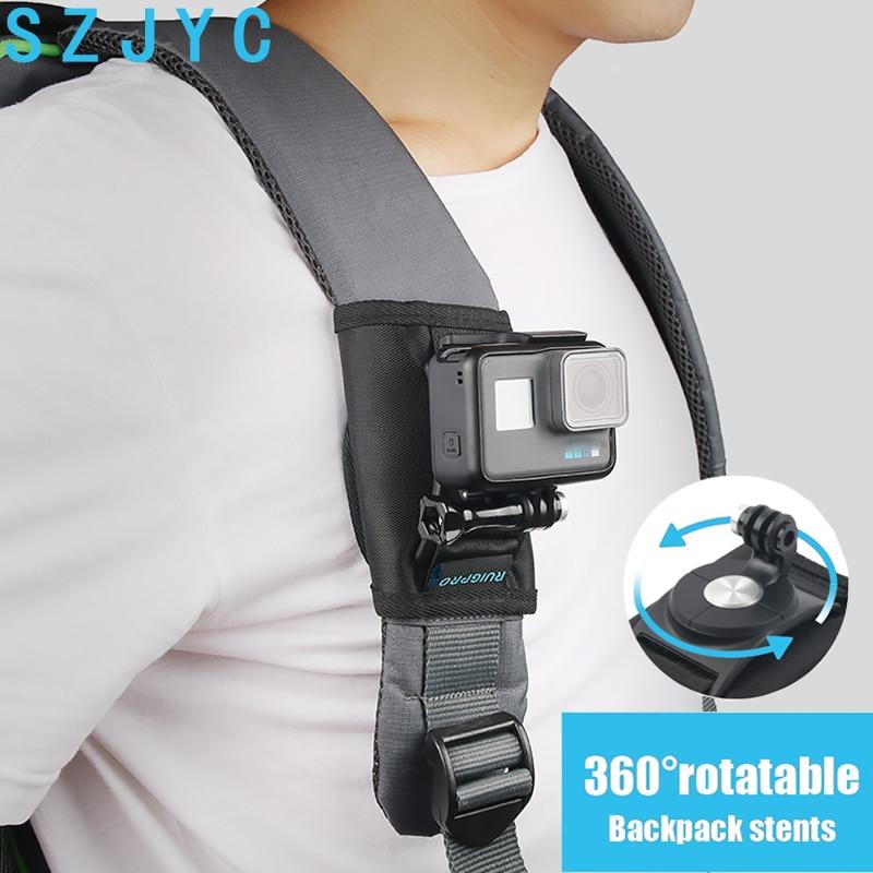 Shoulder Strap Backpack Mount Bracket Holder Stand For Gopro Hero 7 6 5 4 Session Sjcam Eken Xiaomi Yi Action Camera Accessories Sports Camcorder Cases Aliexpress