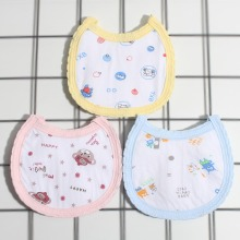 6 Pcs/Set Unisex Fashion Baby Bibs Toddler Newborn Cartoon Pattern Strapless Bandana Burp Cloth Feeding bibs