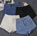 Moda Vintage Pantalones Vaqueros de Las Mujeres Del Verano de Cintura Alta Pantalones Cortos de Mezclilla de Corea Casual Sexy Jeans Shorts Más El Tamaño