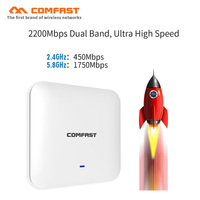 5 ГГц 2200 Мбит/с высокой мощности беспроводной потолок AP WAVE 2 48 В POE порт Gigabit Ethernet OpenWRT Multi SSIDs wi fi точки доступа маршрутизаторы