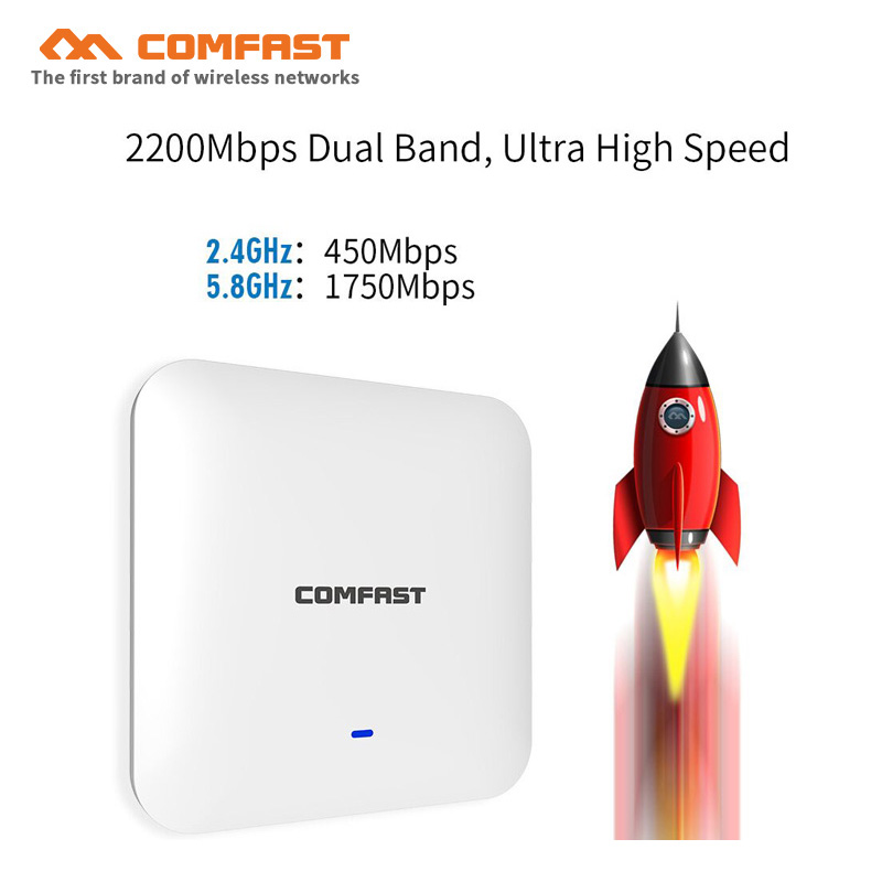 5Ghz 2200Mbps high power wireless ceiling AP WAVE 2 48V POE Gigabit Ethernet port OpenWRT Multi SSIDs Wi fi Access point routers цены