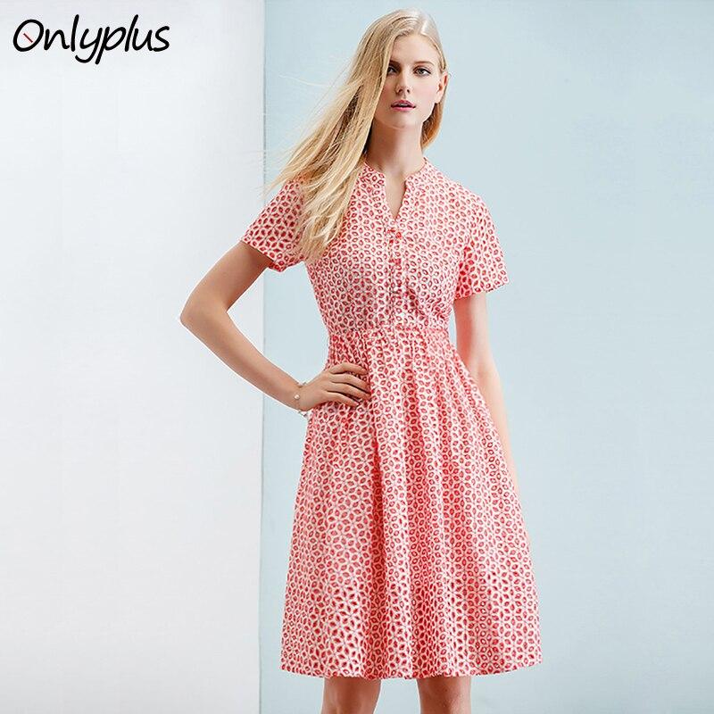 Sólo más S-XXL verano mujeres vestido de algodón Vintage vestido de ...