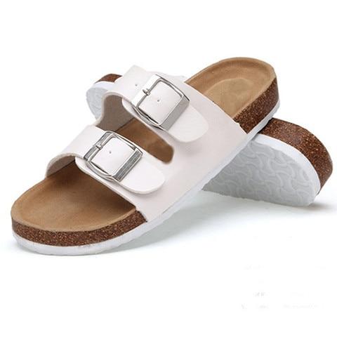 Fashion Cork Sandals 2019 New Women Casual Summer Beach Gladiator Buckle Strap Sandals Shoe Flat with  Size 35-40 Karachi