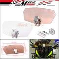 Para Triumph Aprilia KTM Vitória Todo o Modelo de Fluxo de Ar Da Motocicleta Universal Windshield Bolt-On Ajustável Variável Pára Saqueador