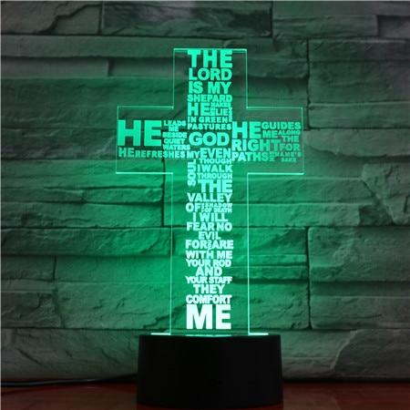 Image 2 - Jesus Christ Cross Shaped Usb 3d Led Night Light Mom Mother Gifts Christian Believer Desk Table Lamp Bedroom Neon Nightlight-in LED Night Lights from Lights & Lighting